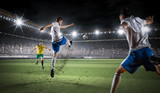 Fototapeta Sport - Hot moments of soccer match
