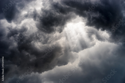 Canvas Prints Storm rain cloud, storm cloud before a thunder storm Background