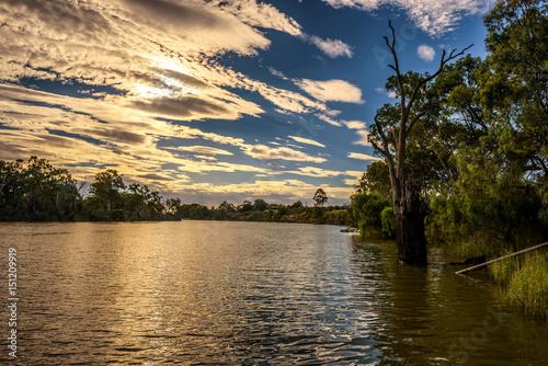 Printed kitchen splashbacks River Sunset over Murray river in Mildura, Australia