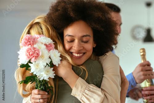 Fotografie, Obraz  Nothing warmer than a best friend's welcoming hug!