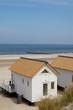beach houses on a sand beach