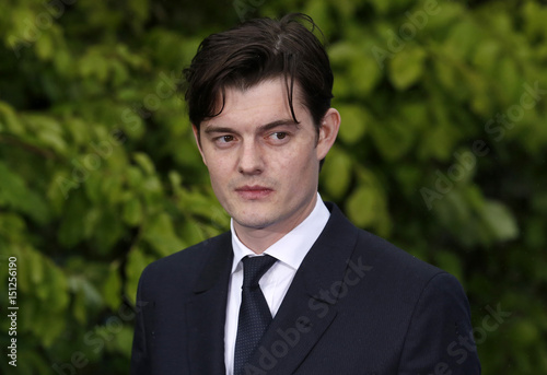 Actor Sam Riley arrives for a special Maleficent Costume