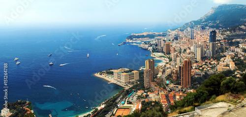 Canvas Print La côte à Monaco