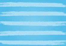 Rectangle Blue Background With Horizontal Stripes. Painted By A Rough Brush.