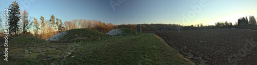 Panoramic view of Tumulus and field near Landersdorf, Bavaria