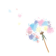 Grass Flower, Watercolor Style...