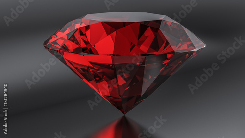 Pinturas sobre lienzo  Ruby diamond on the dark background.