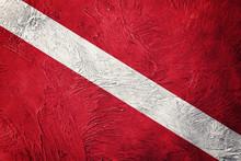 Vintage Style Scuba Flag. Diver Down Flag