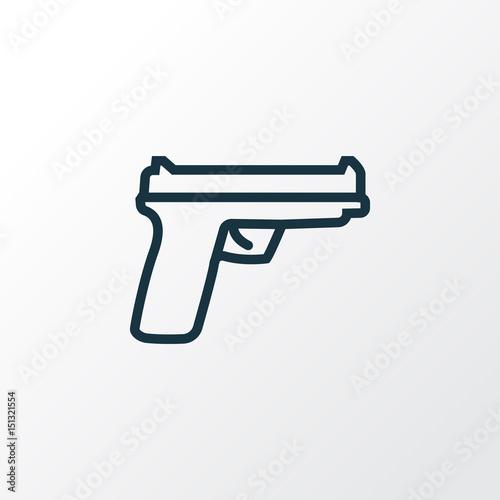 Gun Outline Symbol  Premium Quality Isolated Weapon Element