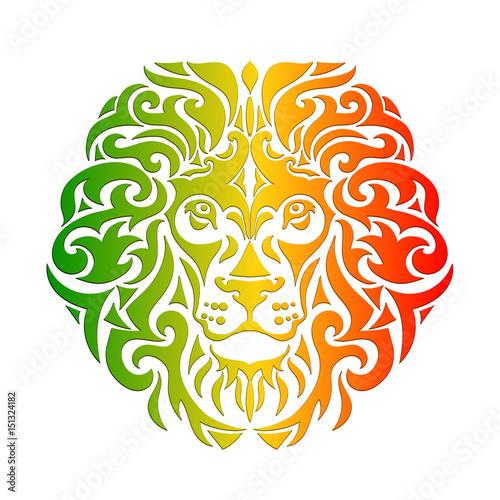 Fototapeta rasta lion vector