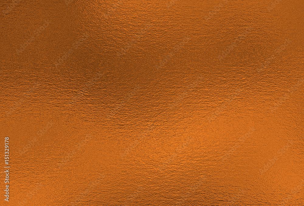 Fototapety, obrazy: Bronze background. Metal foil decorative texture