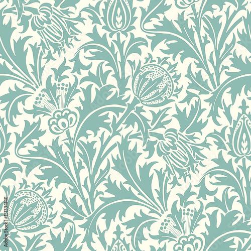 Obraz na plátně Floral seamless pattern