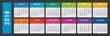Calendar 2018. Calendar vector design and template on dar background. Isolated background.