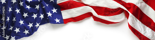 Obraz Red, white, and blue American flag for Memorial day or Veteran's day background - fototapety do salonu