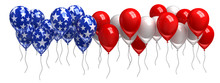 Red, White, And Blue Balloons ...