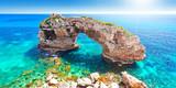 Fototapeta Fototapeta kamienie - Mallorca Spanien Felsen im Meer Mittelmeer