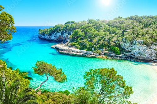 Photo Stands Turquoise Cala Llombards Mallorca Spanien