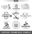 Set of vintage cosmetics labels, logos
