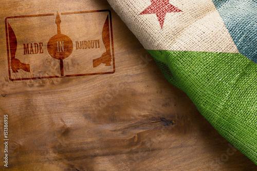 Staande foto Algerije Motivational poster Made in Djibouti
