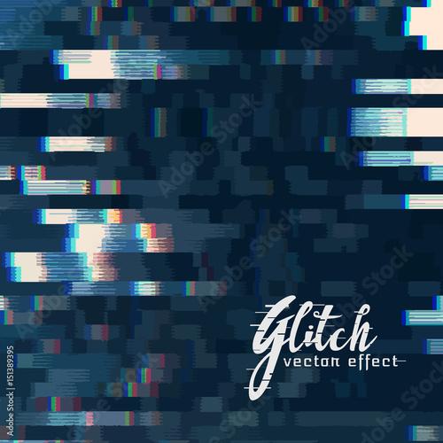 Fotografie, Obraz  digital glitch vector abstract background