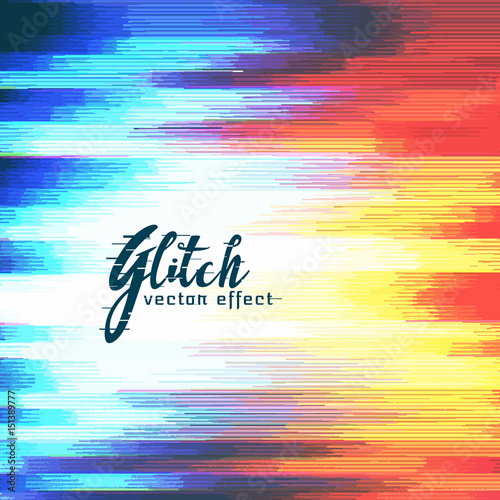 Fotografie, Obraz  abstract glitch distort effect vector