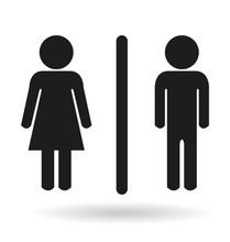 A Black Ladies And Gents Toilet Icon Signs
