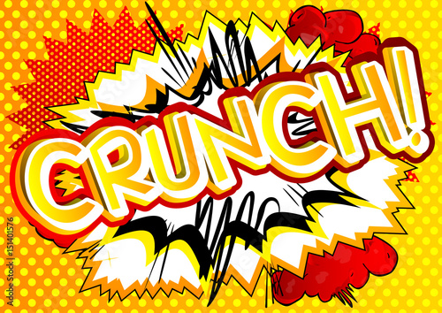 Fotografie, Obraz  Crunch! - Vector illustrated comic book style expression.