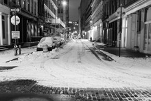 Snow Covered City Street