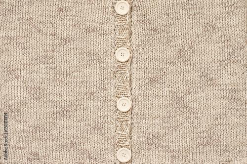 Fotografía  Knitted jacket close-up