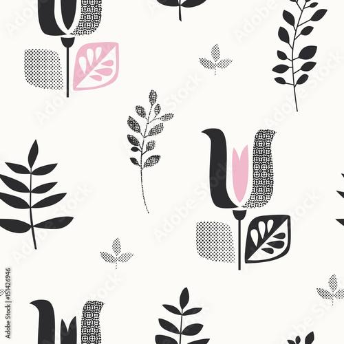 wzor-z-streszczenie-kwiaty-i-liscie