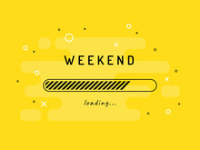 Weekend Loading - Vector Illus...