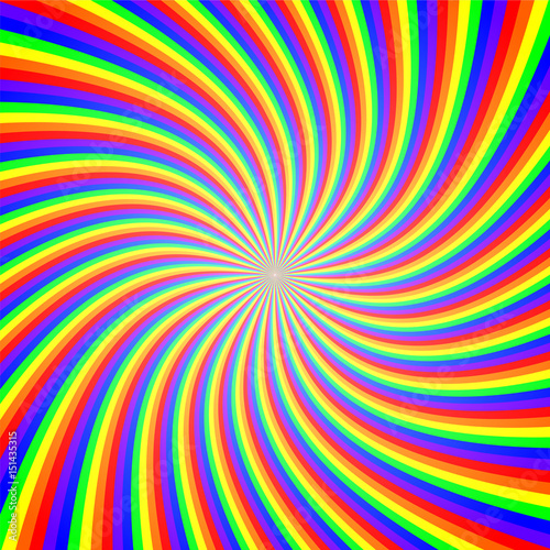 Spoed Foto op Canvas Psychedelic Rainbow Twist Illusion Abstract Background