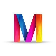 Litera M Logo Wektor