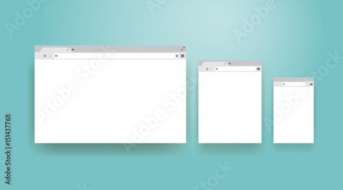 Fotografía  Open Internet browser window in a flat style