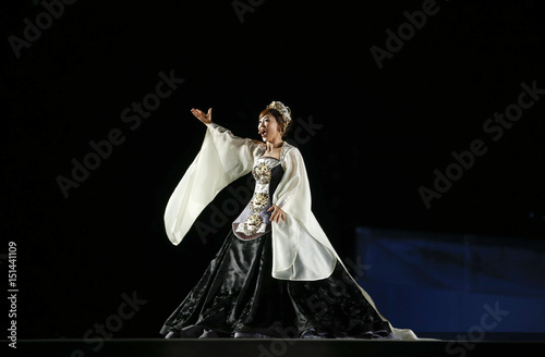 Opera Singer Sumi Jo Performs During The Opening Ceremony Of The