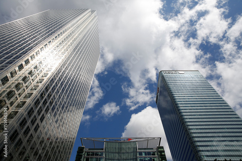 Bank of America building is seen between London's HSBC