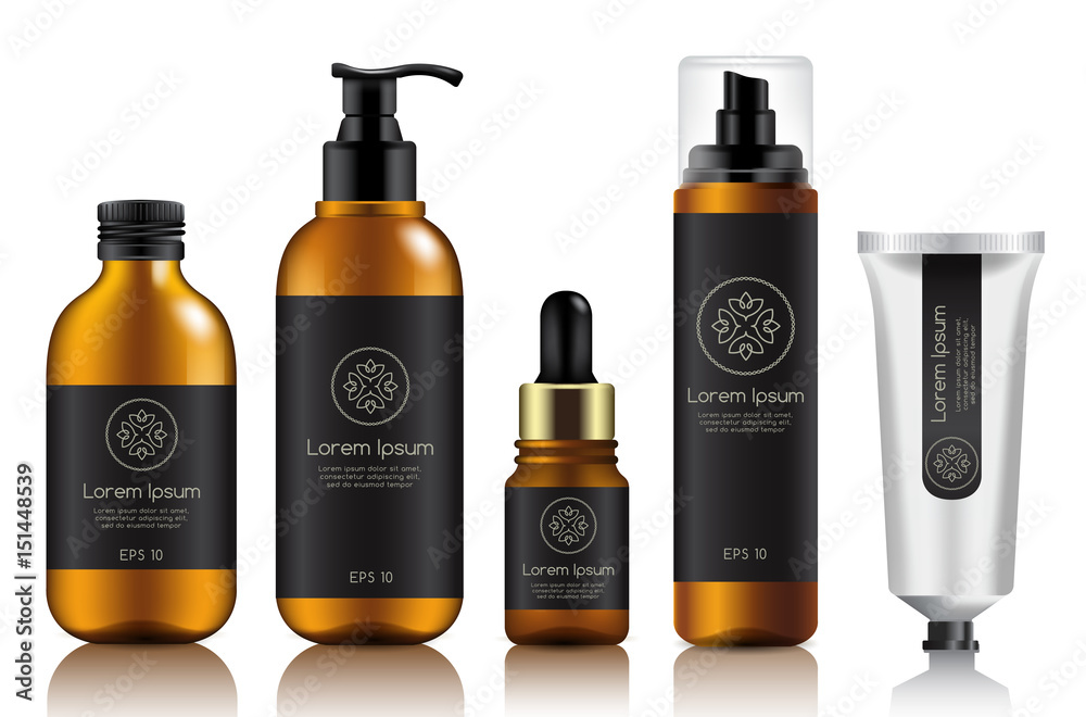 Fototapeta Make Up and Skincare Packaging Template : Vector Illustration