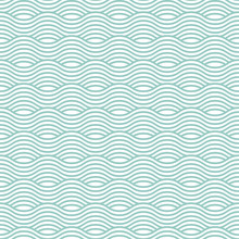 Blue Wave Seamless Pattern. Ve...