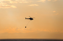 The Helicopter Collects Water ...