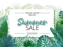 Summer Sale Banner, Poster. Re...