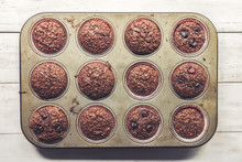 Chocolate Bran Muffins With Ch...