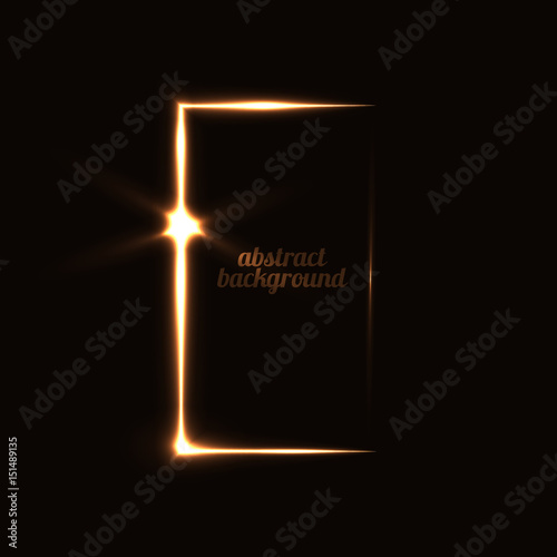 abstract background with a mysterious door Wall mural