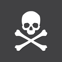 Skull And Crossbones Icon With...