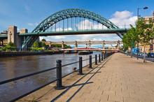 Tyne Bridges At Newcastle