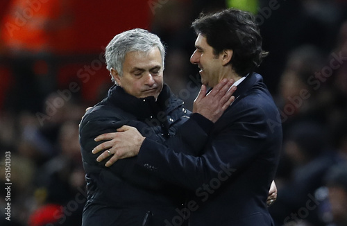 Manchester United manager Jose Mourinho and Middlesbrough