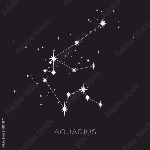 Star constellation zodiac vector