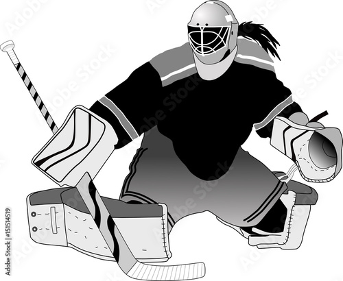 Female Hockey Goalie Making A Save Buy This Stock Vector And