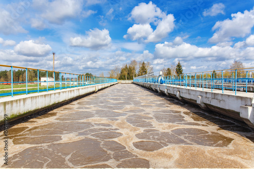 Fotografering  Sewage treatment plant