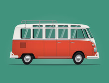 Vintage Classic Bus. Cartoon S...