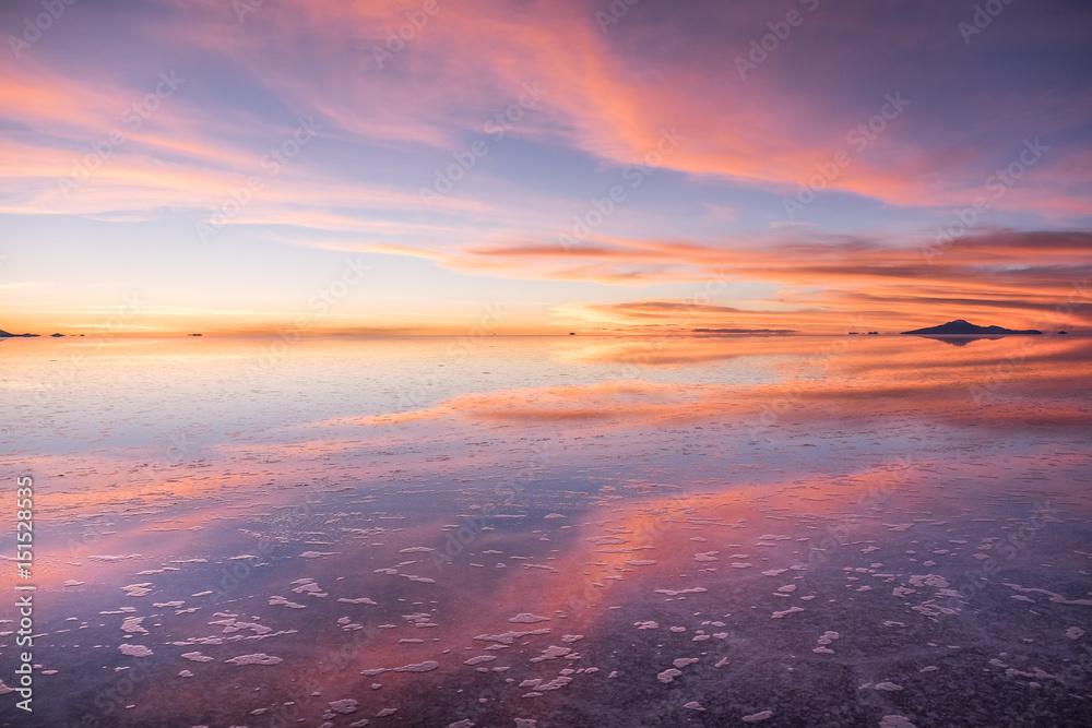 Photo Art Print Sunset At Salar De Uyuni Bolivia